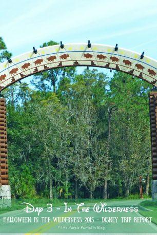 Day 3 - In The Wilderness - Halloween In The Wilderness 2015 Disney Trip Report