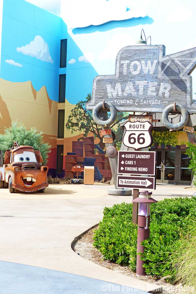 Disney's Art of Animation Resort - Cars Courtyard - Tow Mater Model