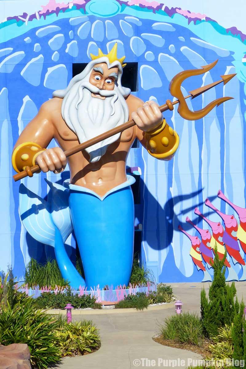 Disney's Art of Animation - The Little Mermaid Courtyard - King Triton Statue