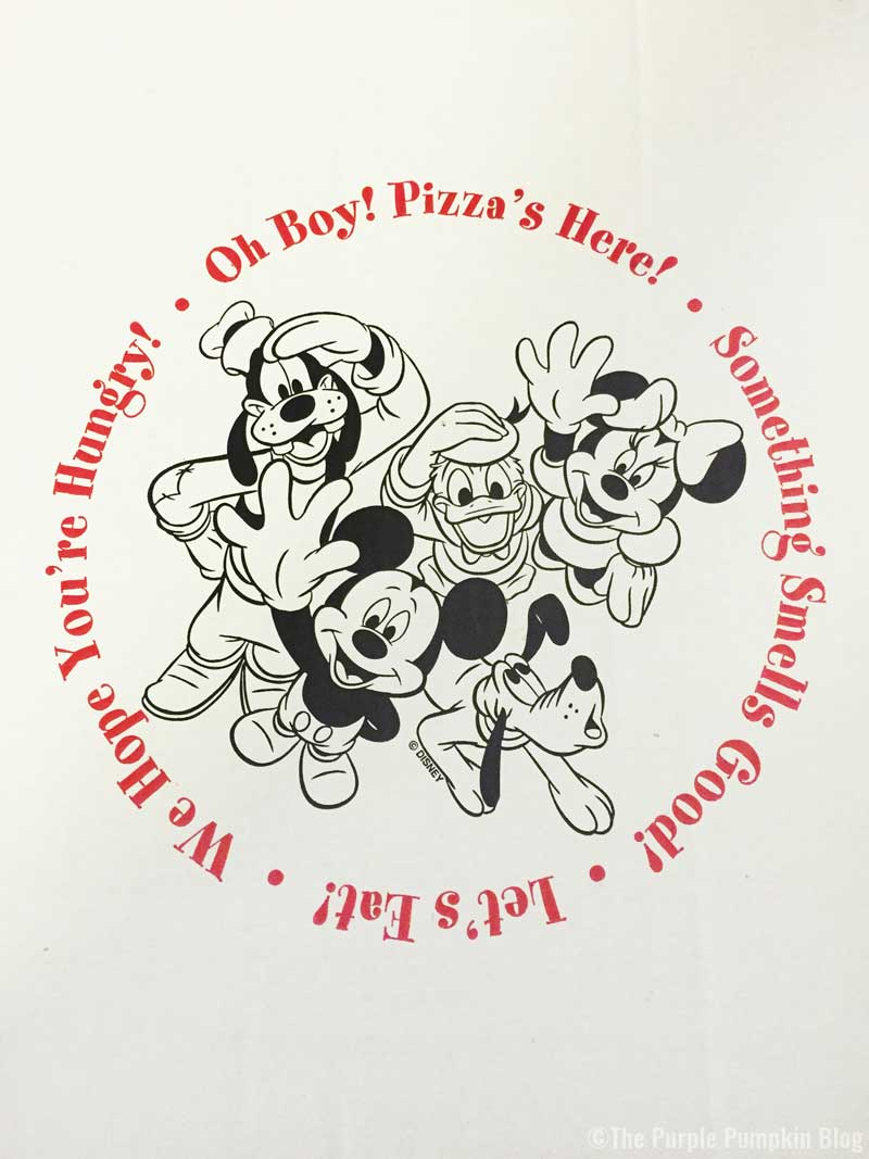 Walt Disney World in-room pizza delivery