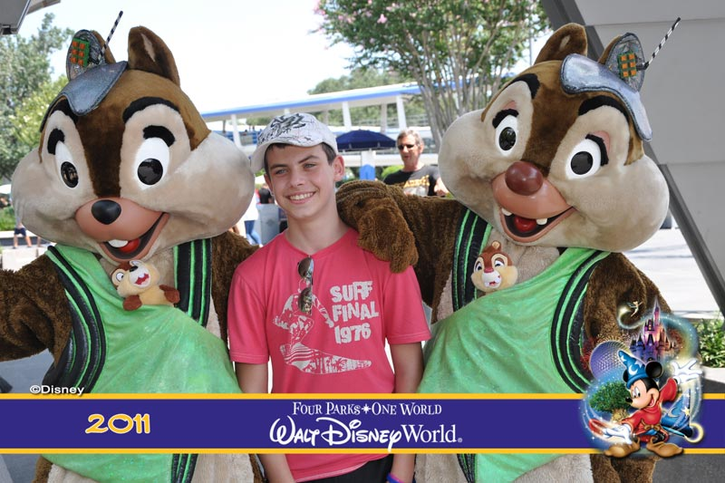 Meeting Chip n Dale in 2011