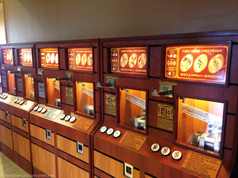 Pressed Penny Machines at Disney's Contemporary Resort