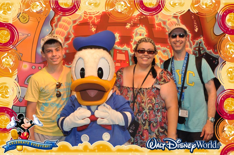 Us at Epcot Character Spot 2011