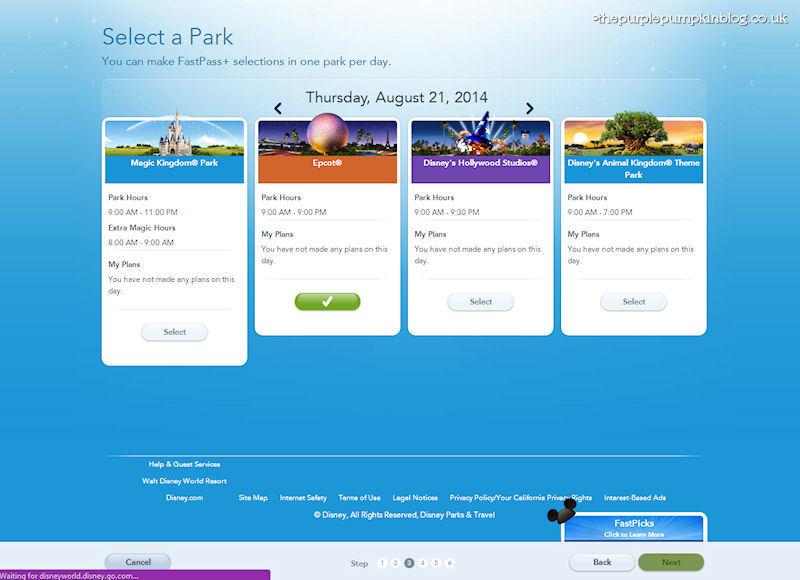 Booking FastPass+ at Walt Disney World