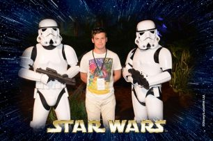 Liam with Stormtroopers