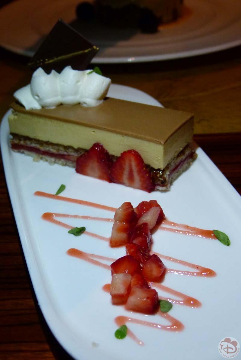 Valrhona Chocolate Mousse and Hazelnut Dacquoise Cake - Jiko - The Cooking Place - Animal Kingdom Lodge