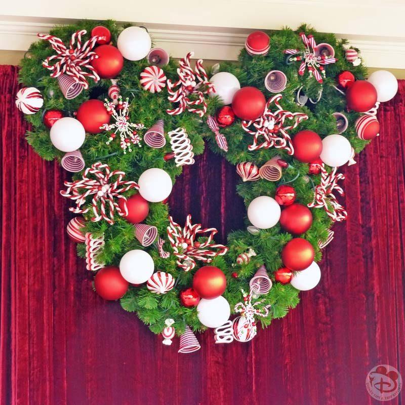 Mickey Wreath Christmas Decorations at Magic Kingdom