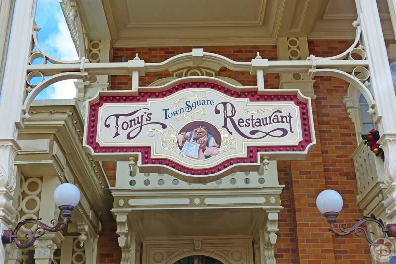 Tony's Town Square Restaurant - Magic Kingdom
