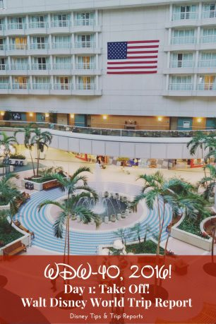 Day 1 - Take Off - WDW-40, 2016: Travelling from LGW to MCO, and a night at Orlando Hyatt Regency Hotel