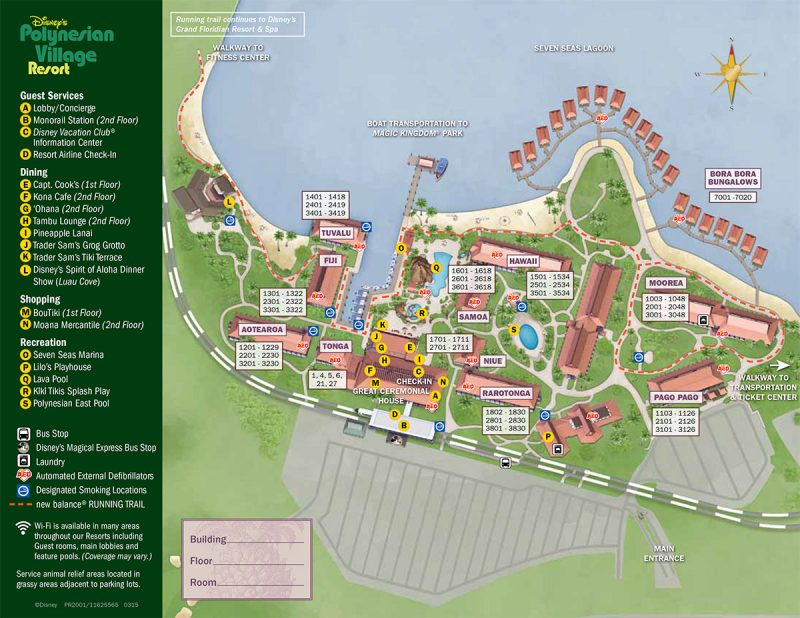 Disney's Polynesian Village Resort Map