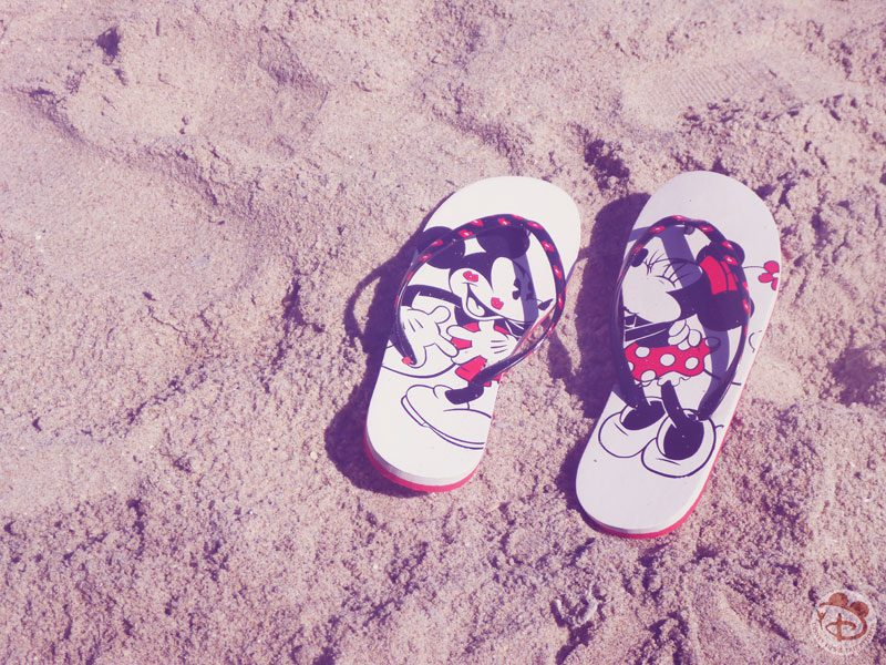 Mickey & Minnie Mouse Flip Flops on Vero Beach