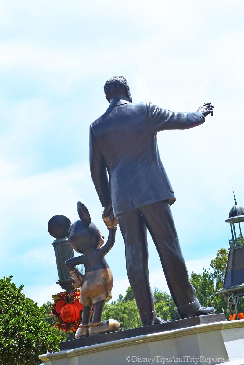 Walt Disney + Mickey Mouse Statue - Magic Kingdom