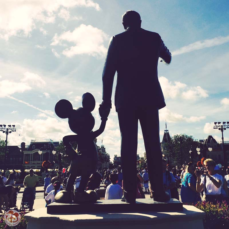Walt Disney + Mickey Statue - Magic Kingdom