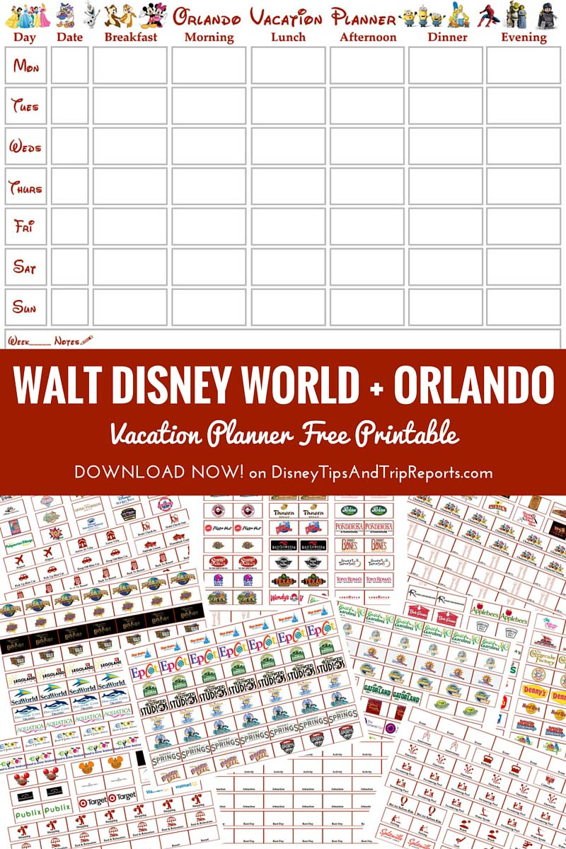 Walt Disney World + Orlando Vacation Planner | Free Printable ...