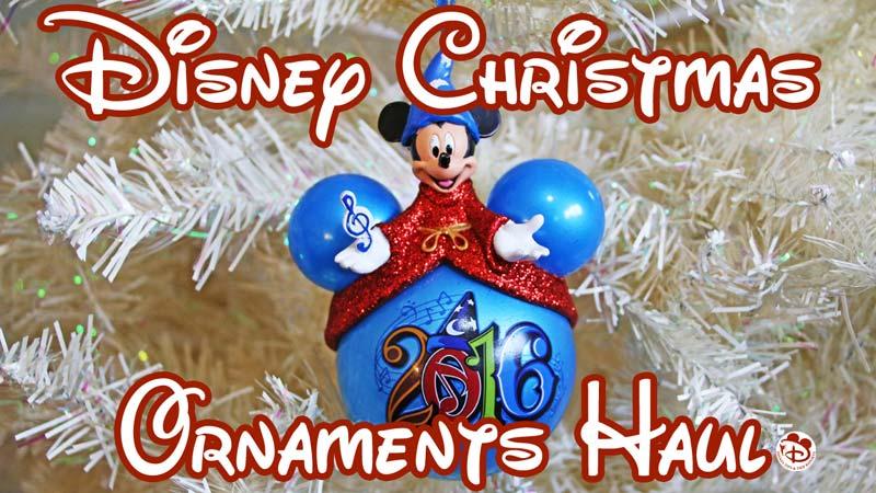 Disney Christmas Ornaments Haul Video Photos