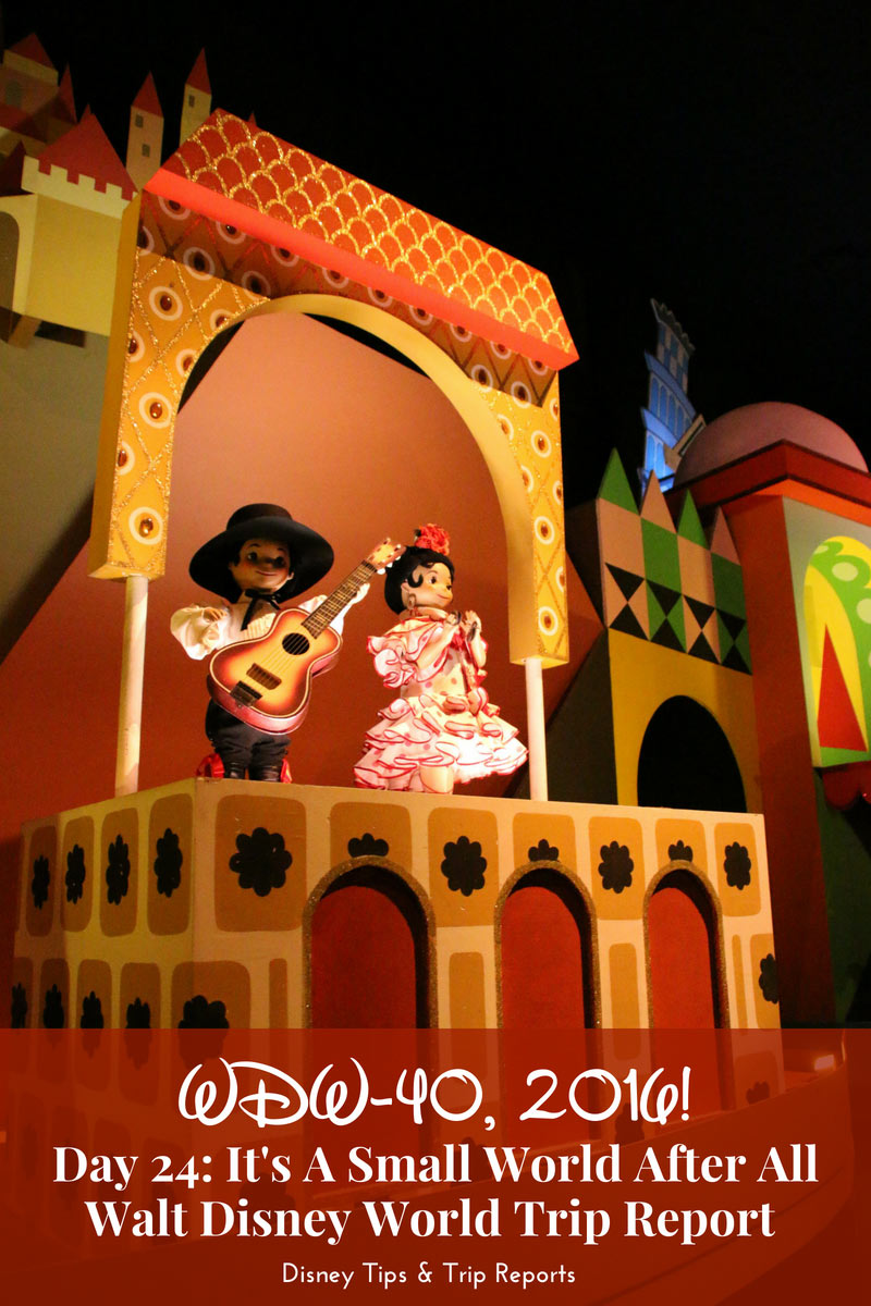 Spending a day at Magic Kingdom and going on iconic attractions like it's a small world, Mickey's PhilharMagic, and the Walt Disney World Railroad! {Day 24 - It's A Small World After All - WDW-20, 2016}
