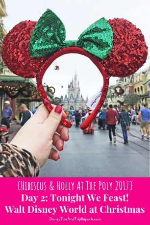Day 2: Tonight We Feast! / Hibiscus & Holly At The Poly Disney Trip Report 2017. In this trip report there is a day at Magic Kingdom, with breakfast at Crystal Palace. Dinner is the Polynesian Twilight Feast; the in-room dining from 'Ohana.
